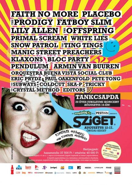 Sziget lineups Poster - www.szigetnews.com