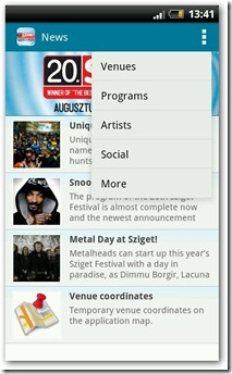 sziget 2012 app android ios