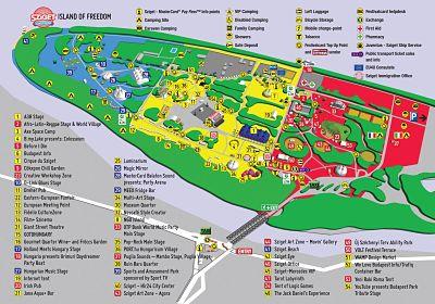 sziget 2013 map