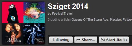 Sziget 2014 spotify