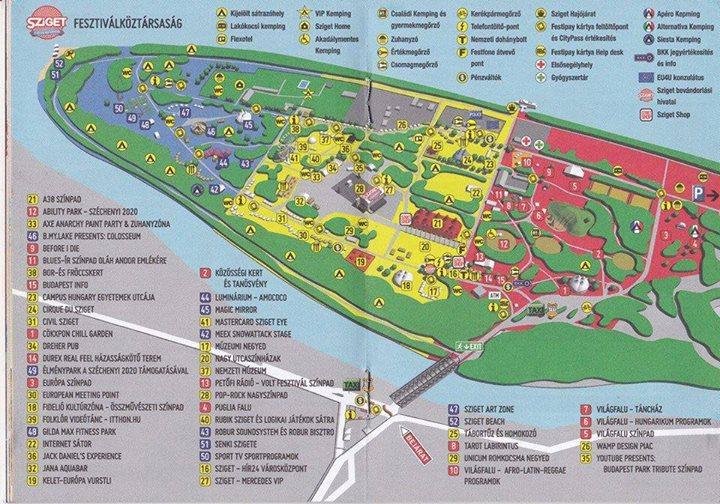 Sziget 2014 map