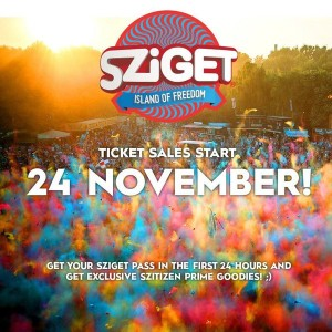 Sziget 2016 tickets to go on sale on November 24th