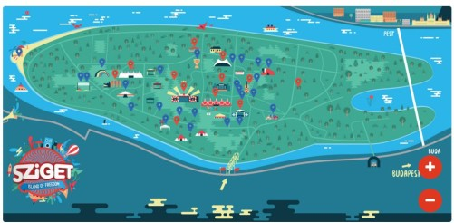 sziget performers and map