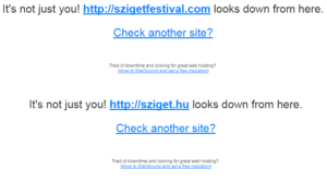 sziget website down